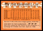 1988 Topps Traded #20 T Tom Brunansky  Back Thumbnail