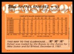 1988 Topps Traded #90 T Rafael Ramirez  Back Thumbnail