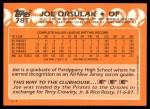 1988 Topps Traded #78 T Joe Orsulak  Back Thumbnail