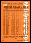 1988 Topps Traded #97 T Cookie Rojas  Back Thumbnail