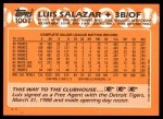 1988 Topps Traded #100 T Luis Salazar  Back Thumbnail