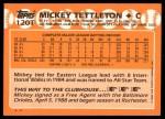 1988 Topps Traded #120 T Mickey Tettleton  Back Thumbnail
