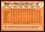 1988 Topps Traded #56 T Darrin Jackson  Back Thumbnail