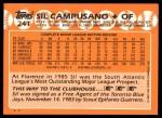 1988 Topps Traded #24 T Sil Campusano  Back Thumbnail