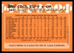 1988 Topps Traded #36 T Cecil Espy  Back Thumbnail