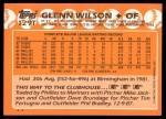 1988 Topps Traded #129 T Glenn Wilson  Back Thumbnail