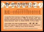 1988 Topps Traded #9 T  -  Bret Barberie Team USA Back Thumbnail