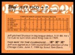1988 Topps Traded #87 T Jeff Pico  Back Thumbnail