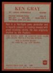 1965 Philadelphia #162  Ken Gray   Back Thumbnail