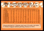 1988 Topps Traded #8 T Floyd Bannister  Back Thumbnail