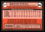 1989 Topps Traded #97 T Dennis Powell  Back Thumbnail