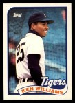 1989 Topps Traded #129 T Ken Williams  Front Thumbnail