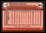 1989 Topps Traded #114 T Lonnie Smith  Back Thumbnail