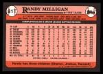 1989 Topps Traded #81 T Randy Milligan  Back Thumbnail