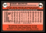 1989 Topps Traded #16 T Jerry Browne  Back Thumbnail