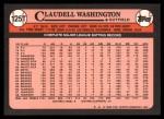 1989 Topps Traded #125 T Claudell Washington  Back Thumbnail