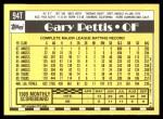 1990 Topps Traded #94 T Gary Pettis  Back Thumbnail