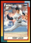 1990 Topps Traded #57 T Terry Leach  Front Thumbnail