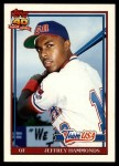 1991 Topps Traded #51 T  -  Jeffrey Hammonds Team USA Front Thumbnail