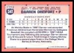 1991 Topps Traded #34 T  -  Darren Dreifort Team USA Back Thumbnail