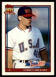 1991 Topps Traded #34 T  -  Darren Dreifort Team USA Front Thumbnail