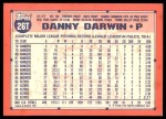 1991 Topps Traded #26 T Danny Darwin  Back Thumbnail