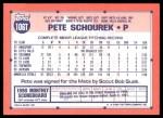 1991 Topps Traded #106 T Pete Schourek  Back Thumbnail