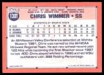 1991 Topps Traded #130 T  -  Chris Wimmer Team USA Back Thumbnail
