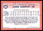1991 Topps Traded #98 T  -  Chris Roberts Team USA Back Thumbnail
