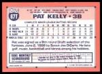 1991 Topps Traded #67 T Pat Kelly  Back Thumbnail