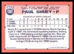 1991 Topps Traded #108 T  -  Paul Shuey Team USA Back Thumbnail
