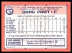 1991 Topps Traded #92 T Doug Piatt  Back Thumbnail
