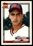 1991 Topps Traded #72 T  -  Donnie Leshnock Team USA Front Thumbnail