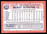 1991 Topps Traded #119 T Mickey Tettleton  Back Thumbnail