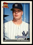 1991 Topps Traded #62 T Jeff Johnson  Front Thumbnail