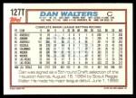 1992 Topps Traded #127 T Dan Walters  Back Thumbnail