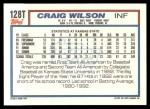 1992 Topps Traded #128 T  -  Craig Wilson Team USA Back Thumbnail