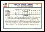1992 Topps Traded #48 T  -  Rick Helling Team USA Back Thumbnail