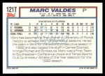 1992 Topps Traded #121 T  -  Mark Valdes Team USA Back Thumbnail