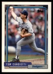 1992 Topps Traded #20 T Tom Candiotti  Front Thumbnail