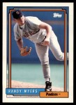 1992 Topps Traded #80 T Randy Myers  Front Thumbnail