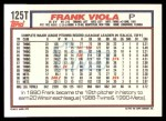 1992 Topps Traded #125 T Frank Viola  Back Thumbnail