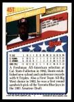 1993 Topps Traded #45 T  -  Dante Powell Team USA Back Thumbnail