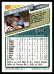 1993 Topps Traded #90 T Richie Lewis  Back Thumbnail