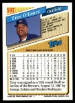 1993 Topps Traded #59 T Troy O'Leary  Back Thumbnail