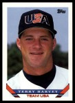 1993 Topps Traded #41 T  -  Terry Harvey Team USA Front Thumbnail