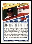 1993 Topps Traded #41 T  -  Terry Harvey Team USA Back Thumbnail