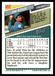 1993 Topps Traded #95 T Joe Klink  Back Thumbnail