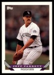 1993 Topps Traded #46 T Jeff Parrett  Front Thumbnail