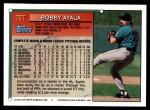 1994 Topps Traded #75 T Bobby Ayala  Back Thumbnail